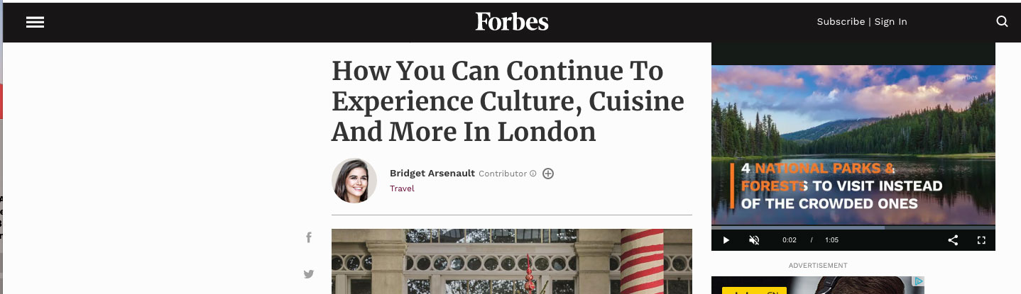 How You Can Continue To Experience Culture, Cuisine And More In London